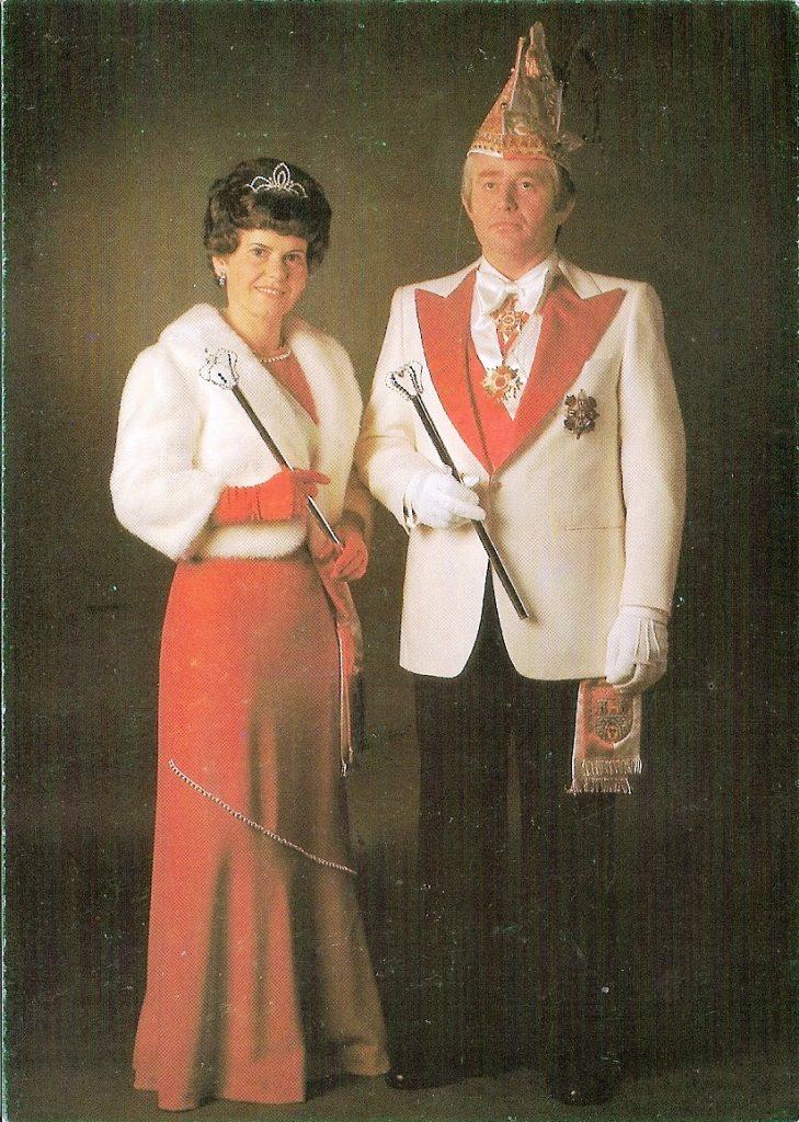 Prinzenpaar der Landeshauptstadt Hannover 1976/77 • Seine Tollität Horst I. und ihre Lieblichkeit Maria I.