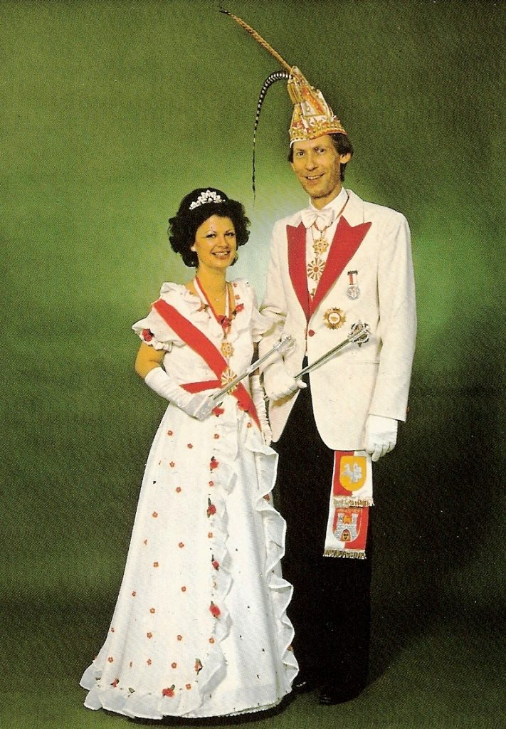 Prinzenpaar der Landeshauptstadt Hannover 1980/81 Seine Tollität Wilhelm I. und ihre Lieblichkeit Hannelore I.