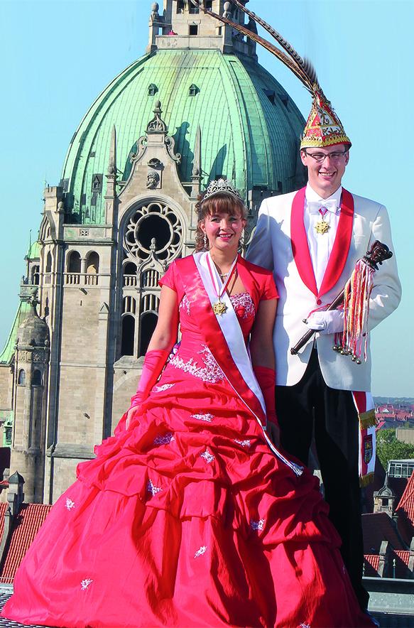 Prinzenpaar der Landeshauptstadt Hannover Session 2011/12 • Seine Tollität Daniel I. und ihre Lieblichkeit Stefanie II.