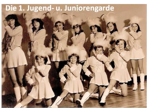 Die Junioren- u. Kindergarde 1975