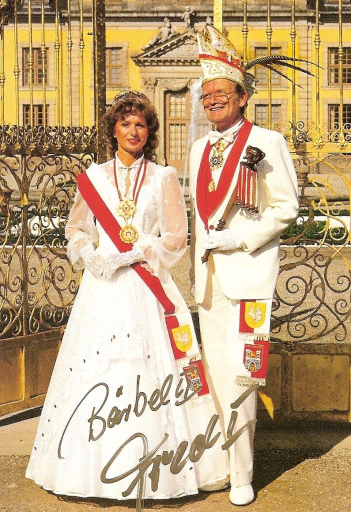 Prinzenpaar der Landeshauptstadt Hannover 1987/88 • Seine Tollität Fred I. und ihre Lieblichkeit Bärbel I.