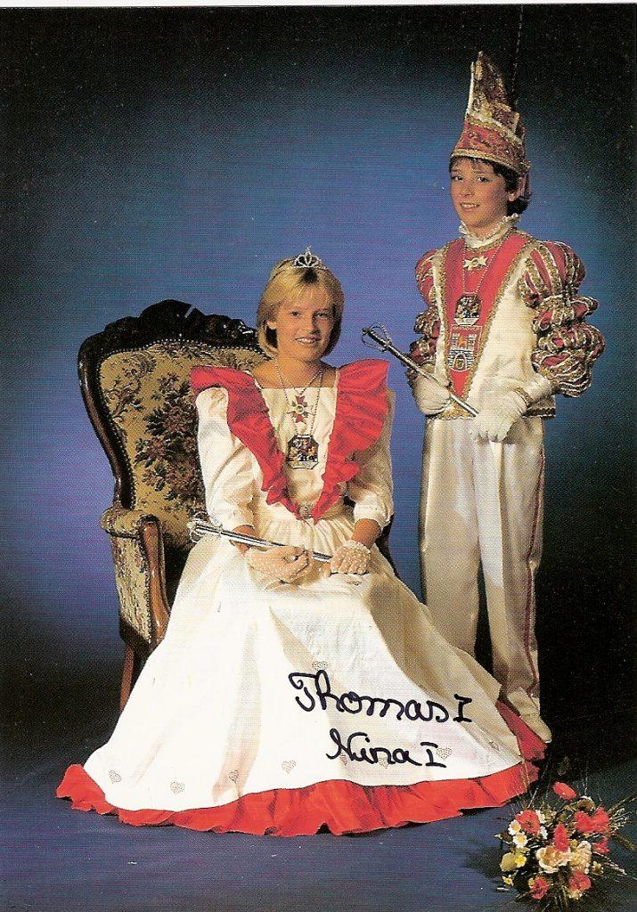 Kinderprinzenpaar der Landeshauptstadt Hannover, Session 1987/88 • Seine Kindertollität Thomas I. und ihre Kinderlieblichkeit Nina I.