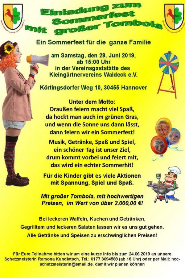 2019 06 29 Sommerfest Plakat
